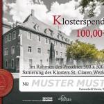Spendenbrief Klosterspende (Muster)