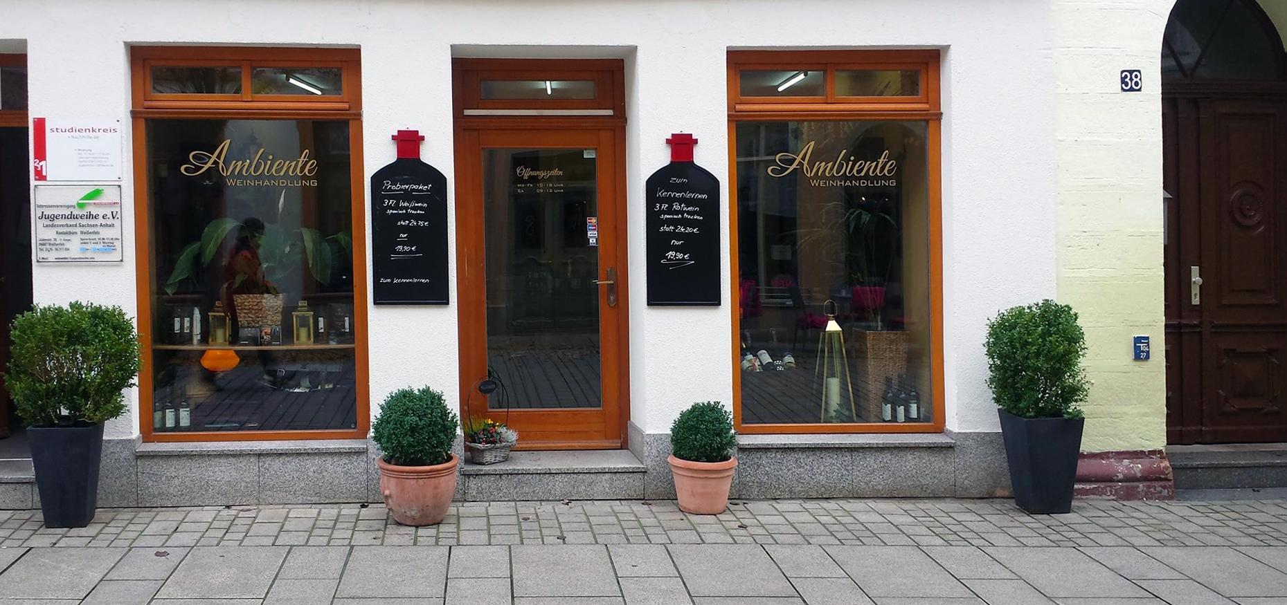Ambiente Weinhandlung Weißenfels