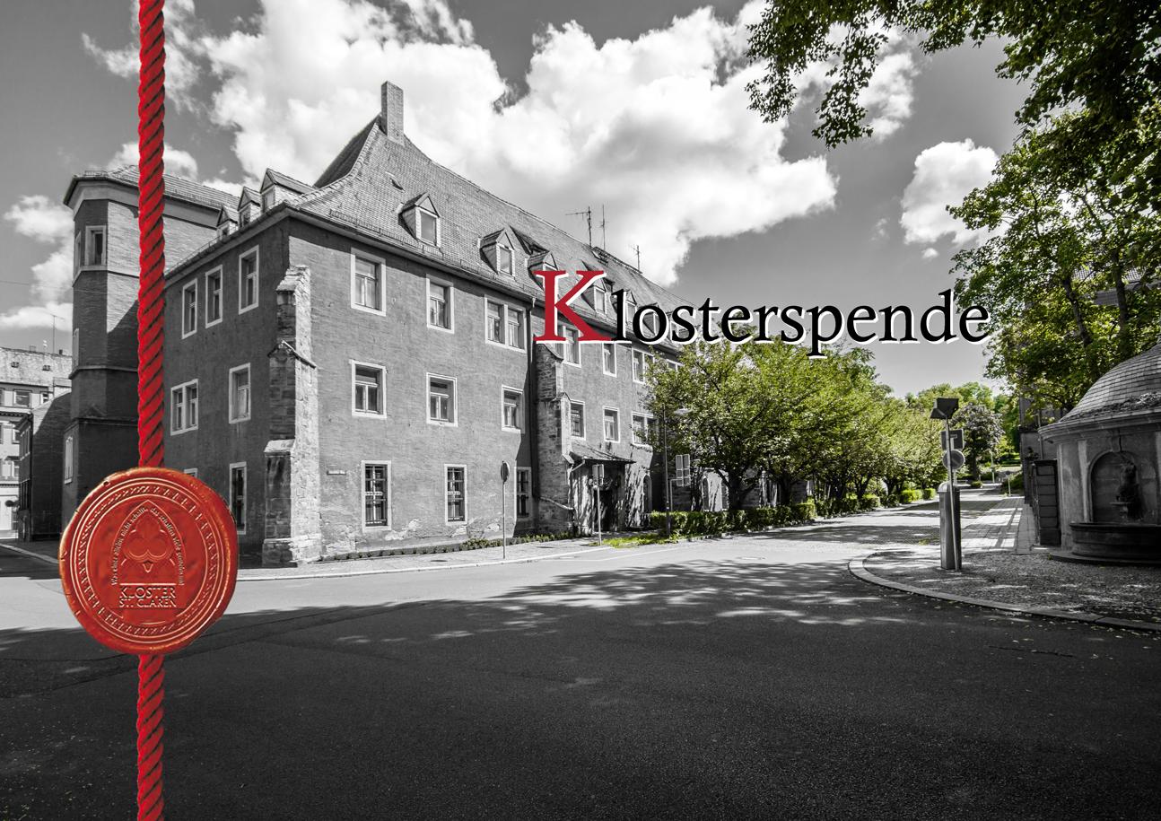 Klosterspende - Spendenbrief