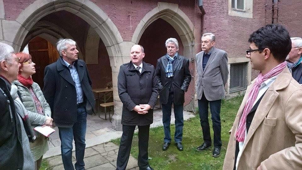 Bauminister Webel im Weißenfelser Kloster